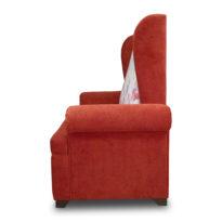 Красный, бело-красный диван Sonata-Pro Antonio в Петропавловске вид сбоку