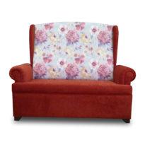 Красный, бело-красный диван Sonata-Pro Antonio в Петропавловске вид прямо
