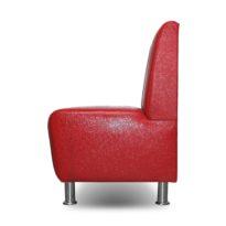 Красный диван Sonata-Pro Matteo в Петропавловске вид сбоку