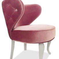 Розовое кресло Sonata-Pro Gystav Classic в Петропавловске вид сбоку