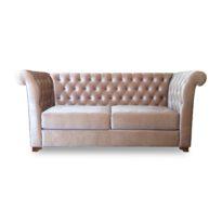 Розовый диван Sonata-Pro Farettino в Петропавловске вид прямо