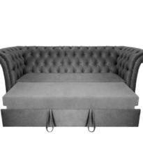 Серый диван Sonata-Pro Faretti в Петропавловске разложенный