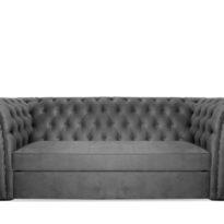Серый диван Sonata-Pro Faretti в Петропавловске вид прямо