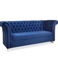 Синий диван Sonata-Pro Faretti в Петропавловске