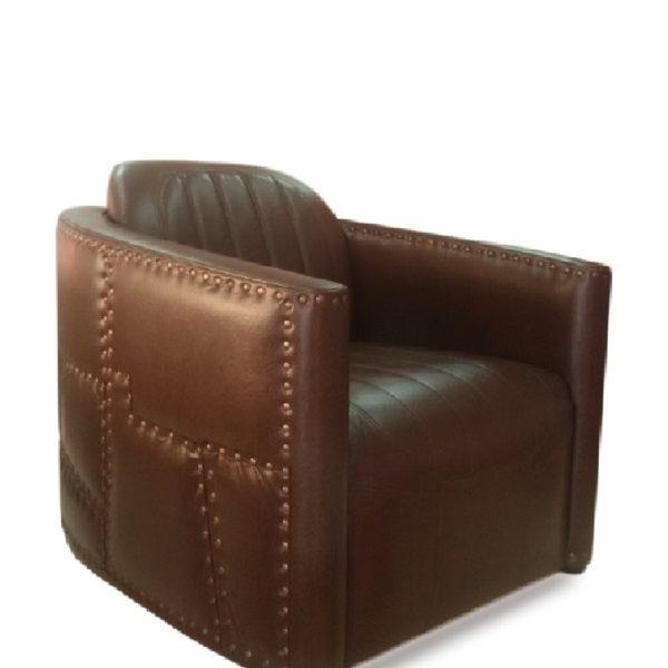 Тёмно-коричневое кресло Sonata-Pro Aviator в Петропавловске