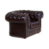 Тёмно-коричневое кресло Sonata-Pro Chesterfield в Петропавловске