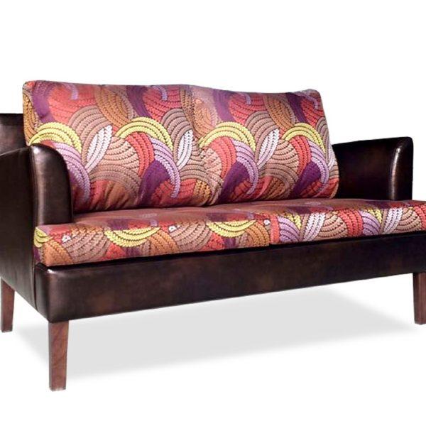 Тёмно-коричневый диван Sonata-Pro Elena в Петропавловске с разноцветными подушками