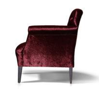 Тёмно-красный диван Sonata-Pro Stefano в Петропавловске вид сбоку