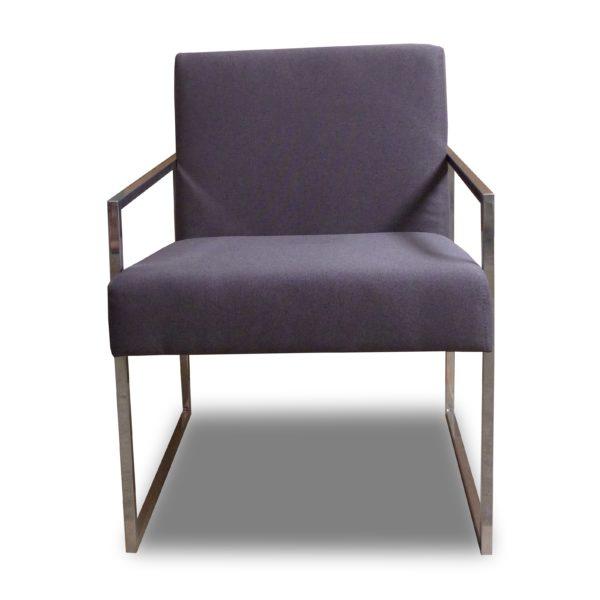 Тёмно-серое кресло Sonata-Pro Soft в Петропавловске вид прямо