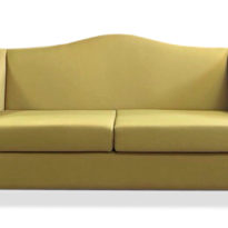 Желтый диван Sonata-Pro Dublin в Петропавловске вид прямо